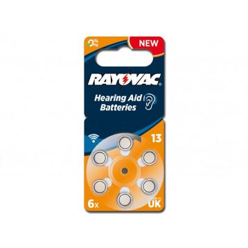 BATTERIE ACUSTICA RAYOVAC 13 - senza mercurio