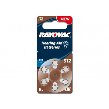 BATTERIE ACUSTICA RAYOVAC 312 - senza mercurio