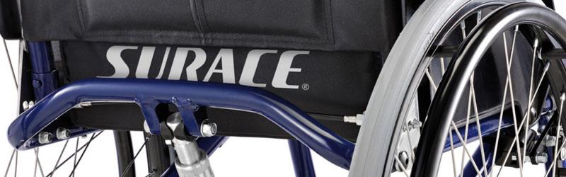 3 modelli di carrozzine e deambulatori del marchio Surace