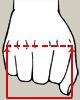 Misura mano splint estensione metacarpi