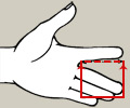 Misura dito splint Bunnel